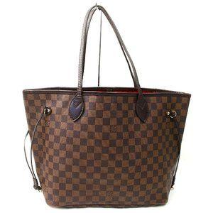 Auth Louis Vuitton Neverfull Mm Damier #3403L51